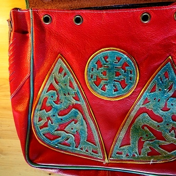 Dartsedo Red Leather Bag