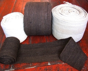 Brown and white Wool/Yak Nambe Cloth